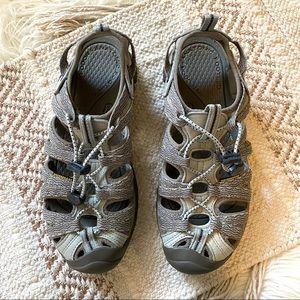 Keen Whisper Grey Closed Toe Anatomic Sandals